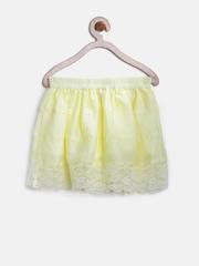 Miss Alibi Girls Yellow Gathered Skirt