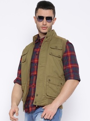 Pepe Jeans Khaki Sleeveless Jacket