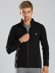 HRX by Hrithik Roshan Black Lightweight All Day Long Jacket