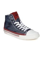 United Colors of Benetton Men Blue Canvas Shoes