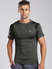 HRX by Hrithik Roshan Charcoal Grey Training T-shirt