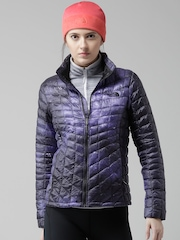 The North Face Purple Thermoball Printed Jacket
