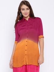 Anouk Pink & Orange Dyed Kurti