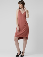 FOREVER 21 Rust Orange Tailored Dress