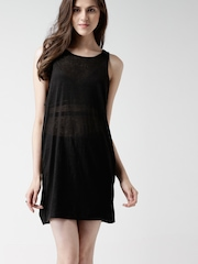 FOREVER 21 Charcoal Grey Linen Shift Dress