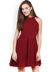 Miss Chase Maroon Skater Dress