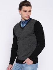 People Grey & Black Sweater