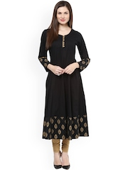 Bhama Couture Black Anarkali Kurta