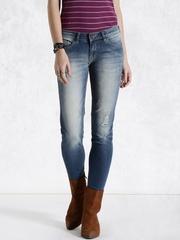 Roadster Blue Washed Skinny Fit Jeans