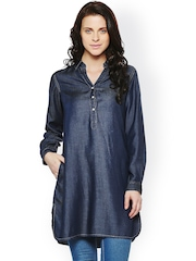 AND by Anita Dongre Navy Denim Tunic