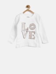 Gini & Jony Girls White Sequinned Sweatshirt