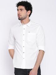 Flying Machine White Casual Shirt