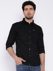 Flying Machine Black Casual Shirt