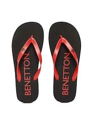 United Colors of Benetton Men Red Printed Flip-Flops