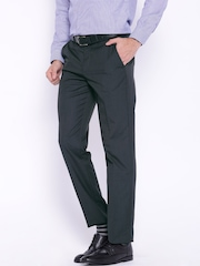 Peter England Elite Charcoal Grey Slim Fit Formal Trousers