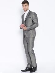 V Dot Grey Single-Breasted Skinny Fit Suit