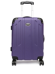 Pronto Unisex Purple Protec 4 W Spinner 58 Small Trolley Suitcase