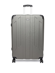 Pronto Unisex Grey Protec Spinner 78 Large Trolley Suitcase