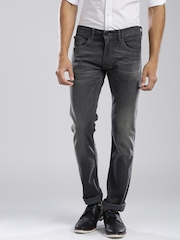 Levis Grey Washed Skinny Straight Jeans 65504