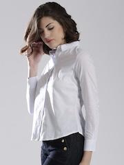 DressBerry White Polka Dot Print Shirt