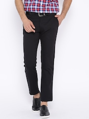 Allen Solly Black Custom Fit Chino Trousers