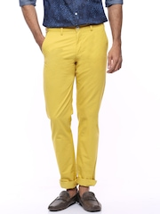 Allen Solly Yellow Smart Fit ChinoTrousers