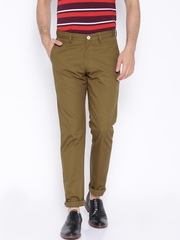 Allen Solly Brown Smart Fit Chino Trousers