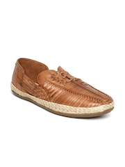 Estd. 1977 Men Brown Woven Leather Casual Shoes