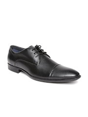Estd. 1977 Men Black Leather Formal Shoes