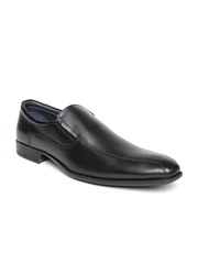 Estd. 1977 Men Black Leather Semiformal Shoes
