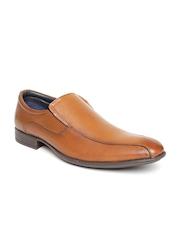 Estd. 1977 Men Tan Brown Leather Semiformal Shoes