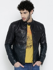 BARESKIN Coffee Brown Dyed Leather Jacket