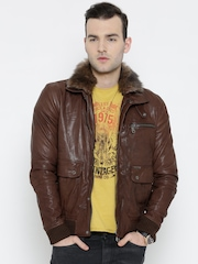 BARESKIN Brown Leather Jacket