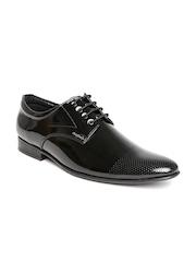 San Frissco Men Black Glossy Leather Formal Shoes