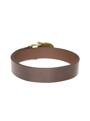 The Rider's Side Men Coffee Brown Equestrian Classic Horsehead Leather Belt