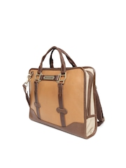 The Rider's Side Unisex Tan Brown Classic Halter Laptop Bag