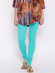 Aurelia Sea Green Churidar Leggings