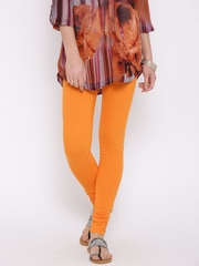 Aurelia Orange Churidar Leggings