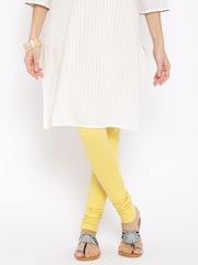 Aurelia Yellow Churidar Leggings