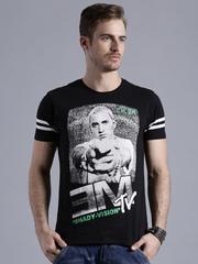 Kook N Keech Music Black Eminem Print T-shirt