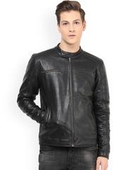 Atorse Black Biker Jacket