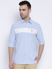 U.S. Polo Assn. Blue Tailored Fit Casual Shirt