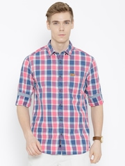 U.S. Polo Assn. Pink Checked Casual Shirt