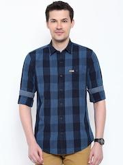 U.S. Polo Assn. Blue Checked Casual Shirt