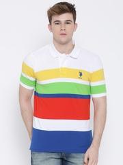 U.S. Polo Assn. Multicoloured Striped Polo T-shirt