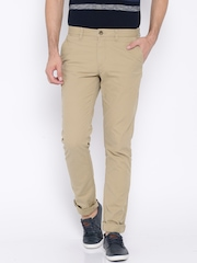 U.S. Polo Assn. Beige Slim Chino Trousers