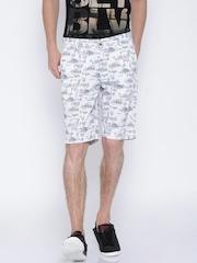 U.S. Polo Assn. White Printed Shorts