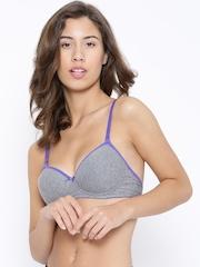 Amante Grey Melange Full-Coverage Bra BRA50201