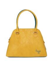 Baggit Yellow & Green Handbag