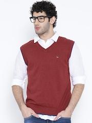 Numero Uno Maroon Sleeveless Sweater